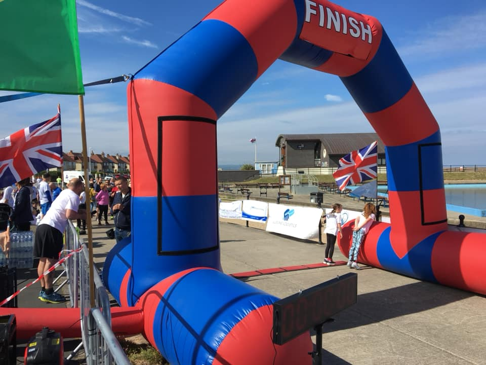 Time2Run Events Race Arch Hire for Triathlons Cycling Running Events UK