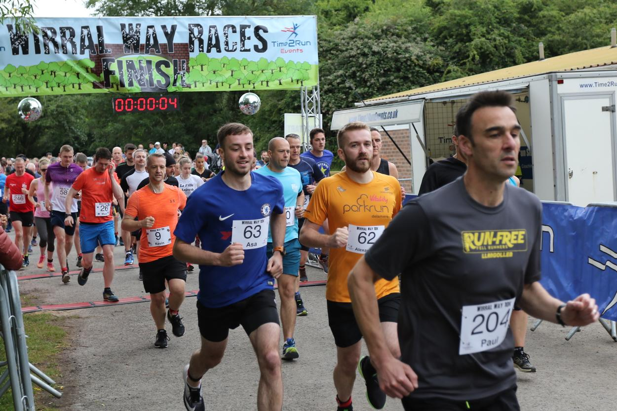 Wirral way 10k from time2run events winter and summer 10k
