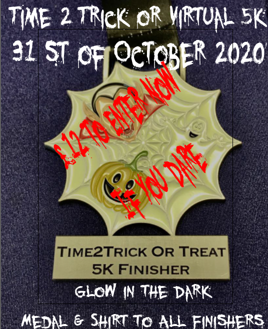 time2trick or treat virtual 5k run 2020