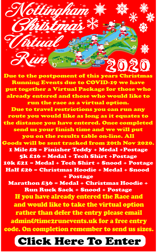 Nottingham Christmas Virtual Run 2020